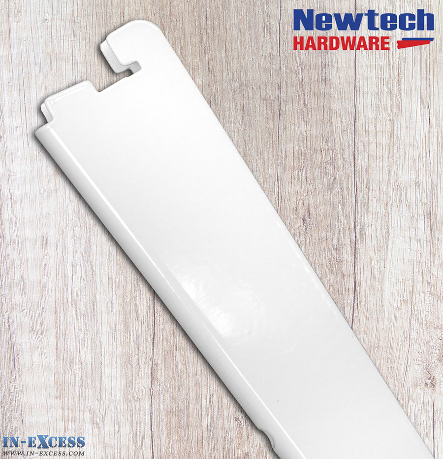 Newtech Hardware Twin Slot White Shelving Bracket 27cm