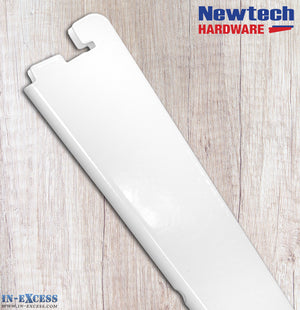 Newtech Hardware Twin Slot White Shelving Bracket 17cm