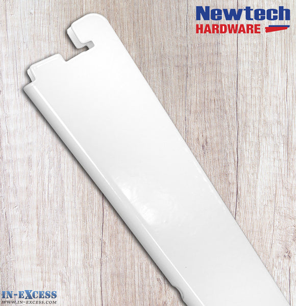 Newtech Hardware Twin Slot White Shelving Bracket 12cm