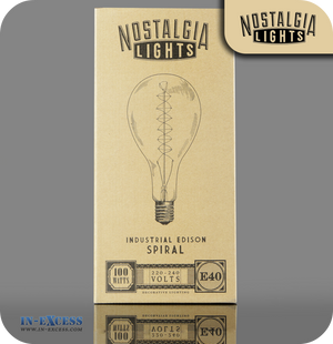 Nostalgia Lights Industrial Edison Spiral E40 - 100W (PS52-32.E40.100)