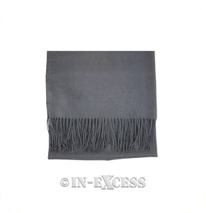 Olivier Pascal Unisex Super Soft Large Winter Wrap Cashmere Mix Scarves - Mid Grey