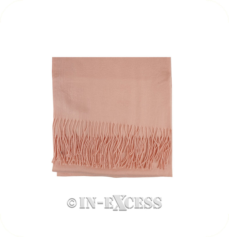 Olivier Pascal Unisex Super Soft Large Winter Wrap Cashmere Mix Scarves - Salmon