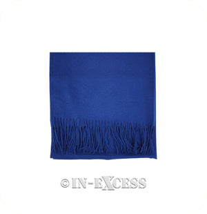 Olivier Pascal Unisex Super Soft Large Winter Wrap Cashmere Mix Scarves - Royal Blue