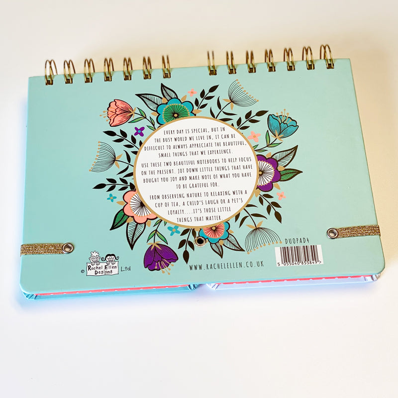 Beautiful Little Moments Duo Twin Notebook by Rachel Ellen Designs