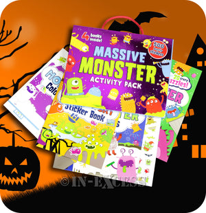 Parragon Massive Monster Activity Pack Inlcuding 4 Books & 500 Beastly Stickers