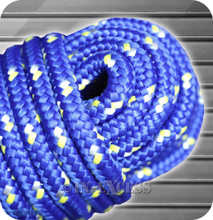 8mm x 30m Perimeter Blue Contractors Polypropylene Diamond Braided Rope 590kg