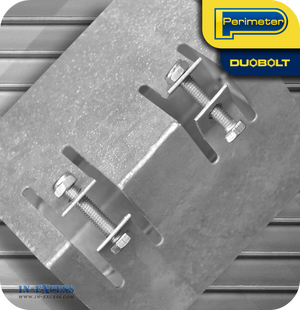 "Perimeter DuoBolt Galvanised Bolt Down Fence Support -  100mm (4"")"