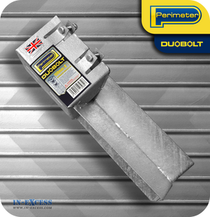 "Perimeter DuoBolt Galvanised Concrete-In Fence Support -  100mm (4"")"