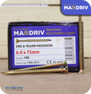 Perimeter MaxDriv Traditional Multi Purpose Screws 6.0 x 75mm - Pack of 100