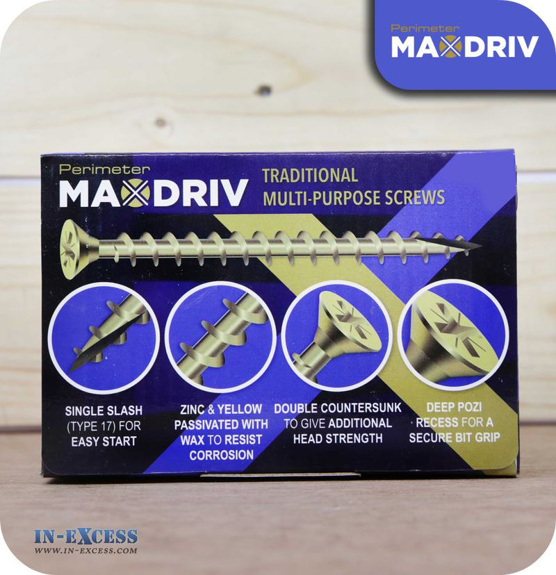 Perimeter MaxDriv Traditional Multi Purpose Screws 5.0 x 40mm - Pack of 200