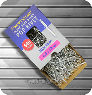 Perimeter Dome Head Aluminium Pop Blind Rivets Boxed - 4.0mm x 12mm