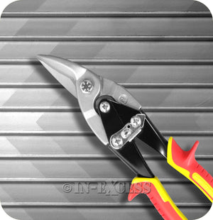 "Perimeter Right Handed Aviation Sheet Metal Snips  250mm (10"") - Left Cut"