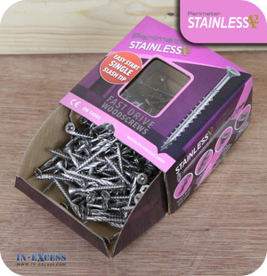 Perimeter Stainless Steel A2 Wood Screws 4.0 x 40mm - Pack of 200