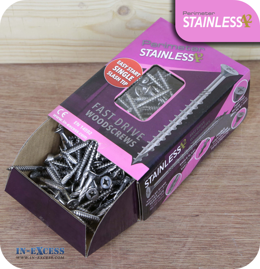 Perimeter Stainless Steel A2 Wood Screws 5.0 x 50mm - Pack of 200