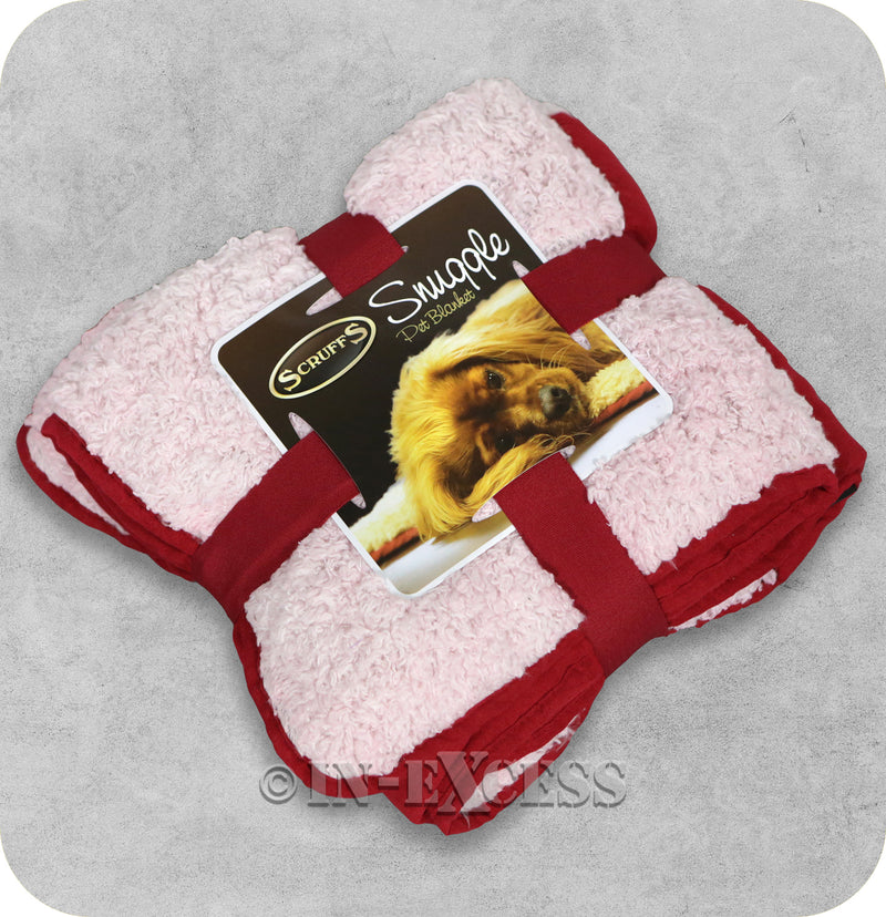 Scruffs Luxurious Faux Suede Plush Reversible Snuggle Pet Blanket - Scarlet