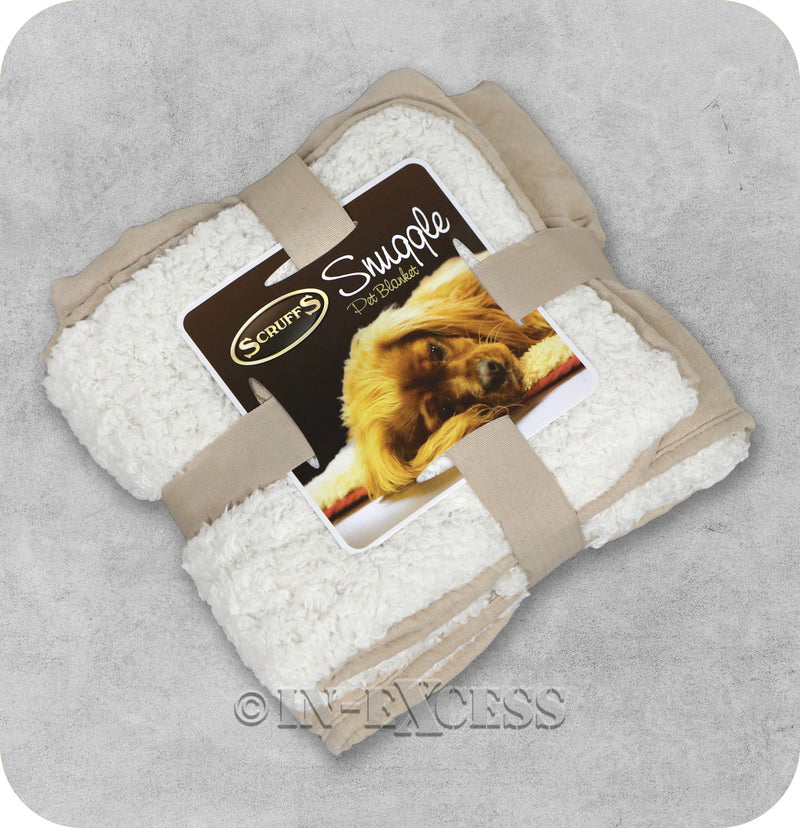 Scruffs Luxurious Faux Suede Plush Reversible Snuggle Pet Blanket - Taupe