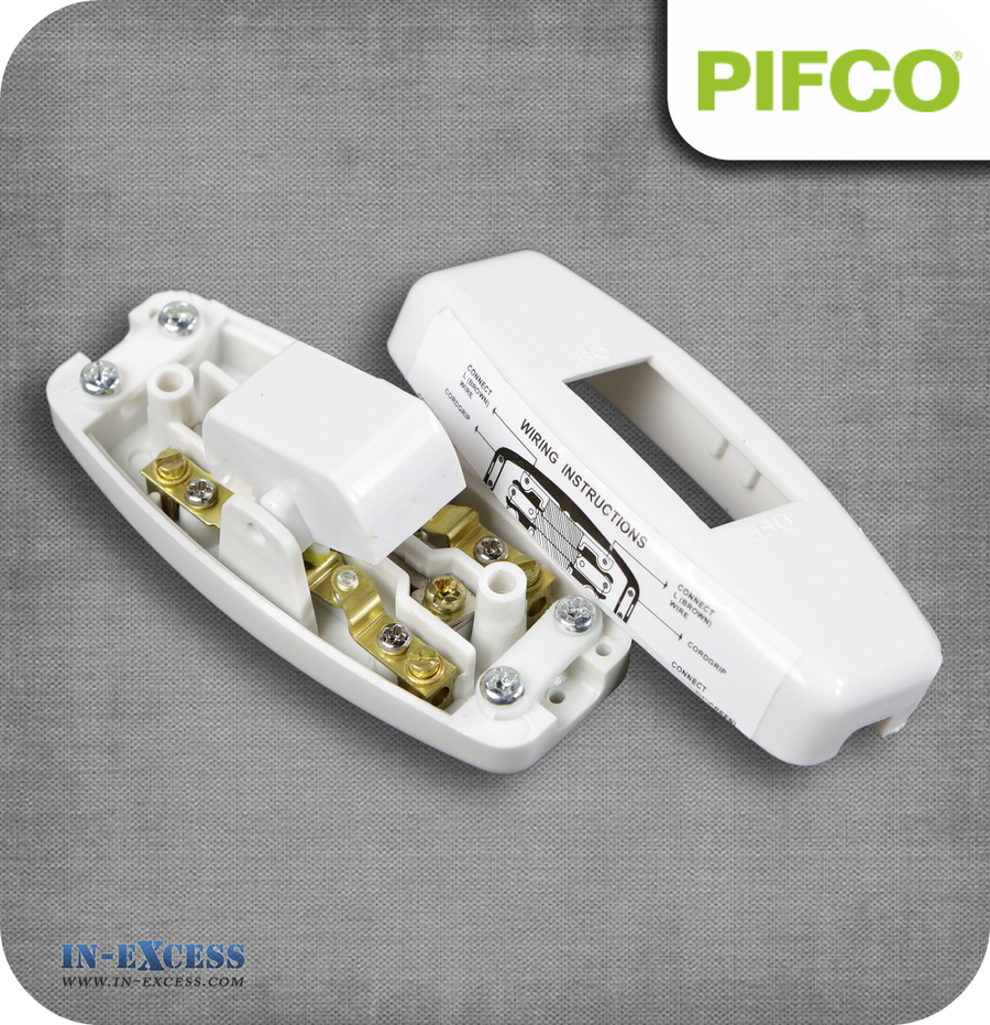 Pifco White Torpedo Inline Through Switch