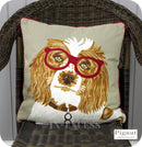Pignut Casual Living Country Style Cotton Family Friends Springer Spaniel Cushion - 45 x 45cm