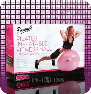 Pineapple Pilates Inflatable Fitness Anti-Burst Ball - With Guide & Pump