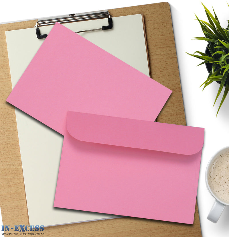 Pink Peel & Seal Envelopes C6 Size Pack of 25