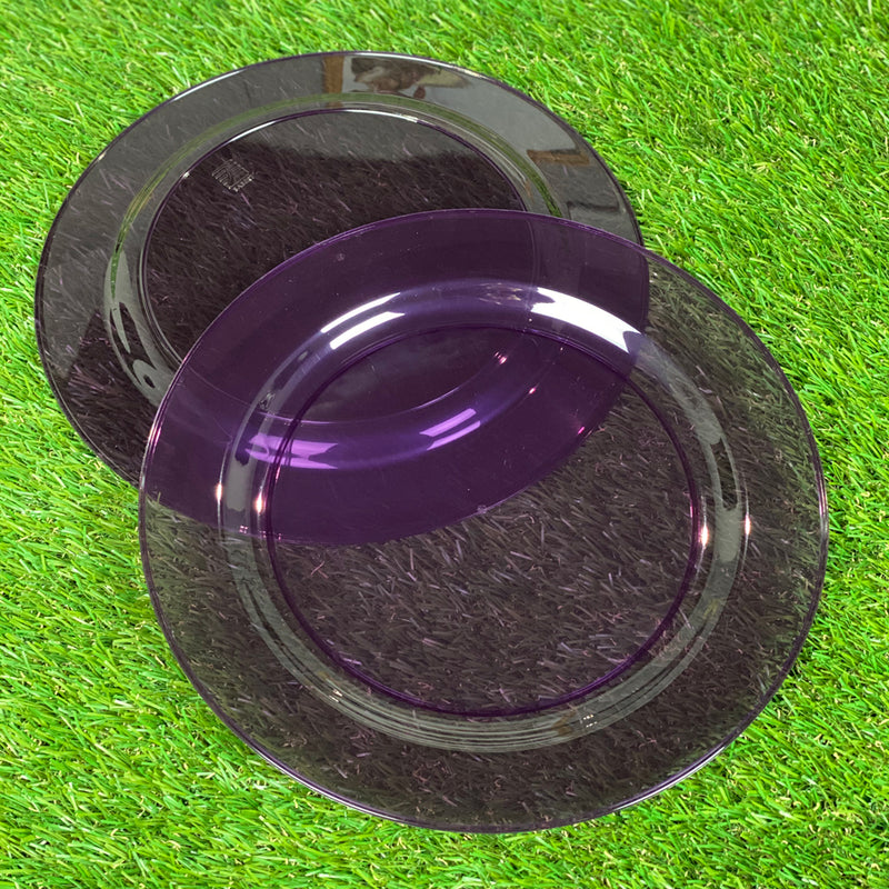 Mozaik Outdoor Picnic Party Plates - Pack of 6 - 23cm Round - Purple
