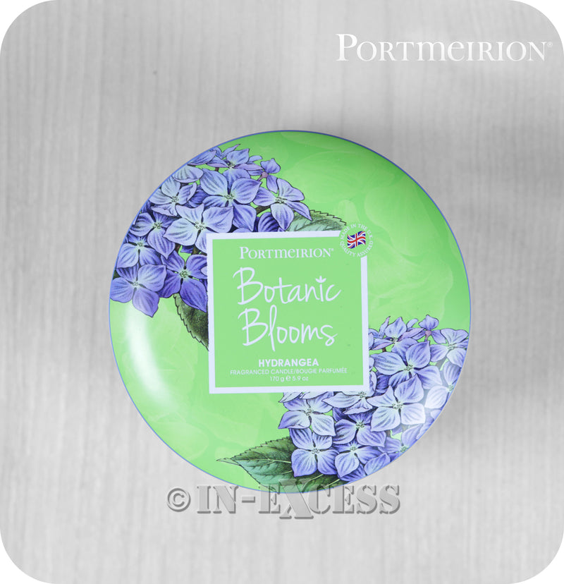 Portmeirion Botanic Blooms By Pimpernel Fragranced Gift Tin Candle - Hydrangea