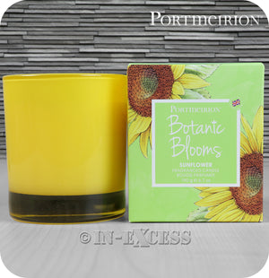 Portmeirion Botanic Blooms By Pimpernel Fragranced Glass Gift Candle - Sunflower