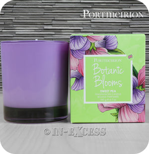 Portmeirion Botanic Blooms By Pimpernel Fragranced Glass Gift Candle - Sweet Pea