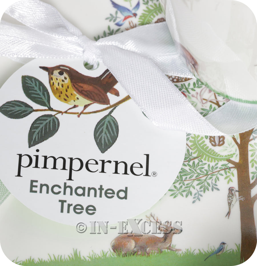 Portmeirion Enchanted Tree By Pimpernel 2 Porcelain Mug & Tray Gift Set