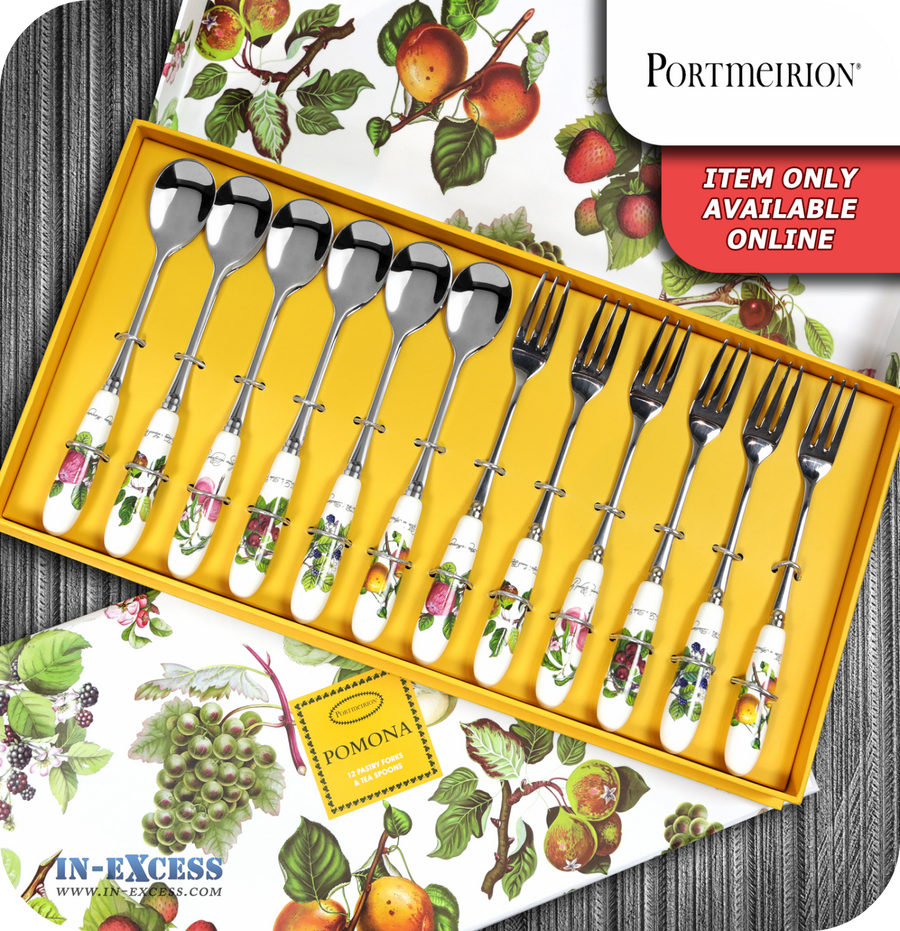 Portmeirion Pomona Pastry Forks & Tea Spoons - Set of 12