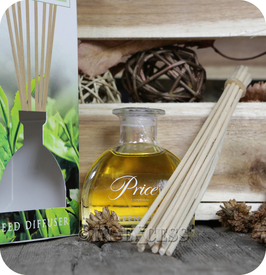 Price's Patent Candle Scented Reed Diffuser Green Tea - 100ml