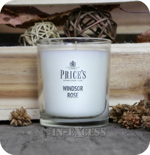 Price's Patent Candle Scented Glass Jar Candle Windsor Rose - 349g