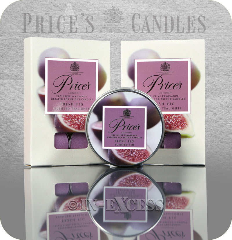 Price's Patent Candle Scented Tealights & Glass Jar Gift Set - Fresh Fig