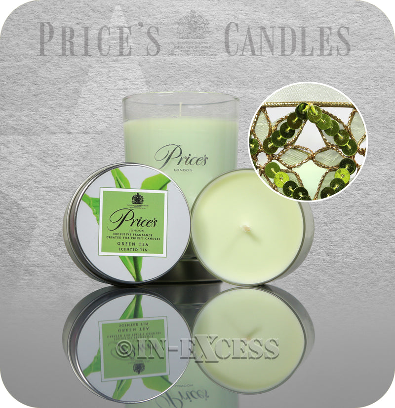 Price's Patent Candle Scented Tealights & Glass Jar Gift Set - Green Tea