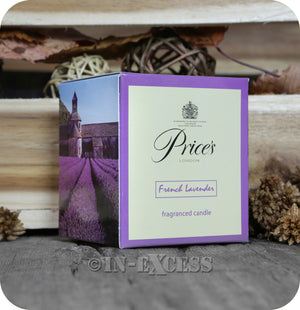 Price's Patent Candle Scented Glass Jar Candle French Lavender - 349g