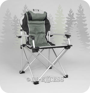 ProMech Racing Fold-Up Paddock Camping Chair with Carry Bag - Phantom Grey