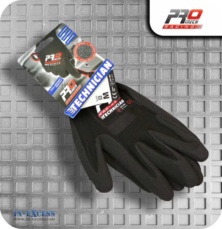 Promech Racing Technician Gloves - M (Size 8)