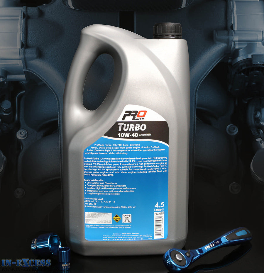 ProMech Turbo Semi Synthetic Engine Oil 10W-40 4.5L