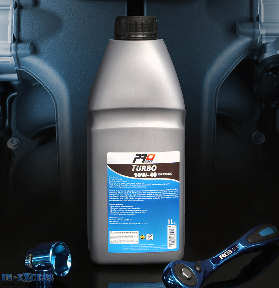 ProMech Turbo Semi Synthetic Engine Oil 10W-40 1L