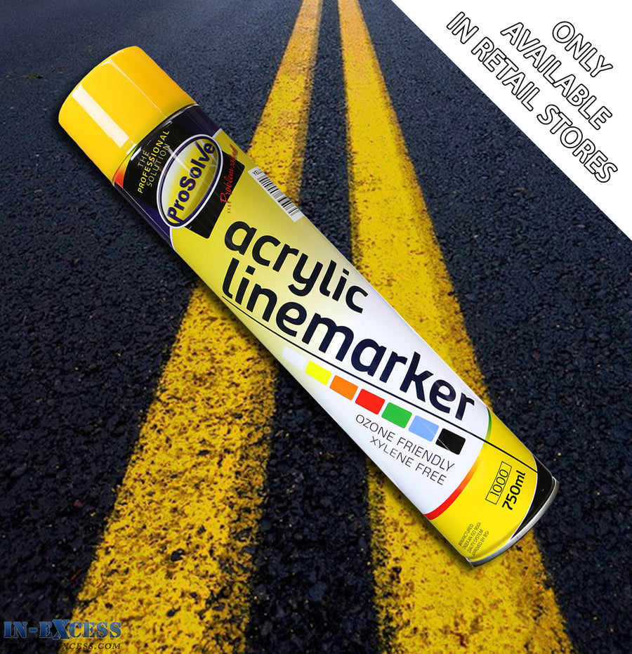 ProSolve Acrylic Traffic Line Marking Paint 750ml - Yellow