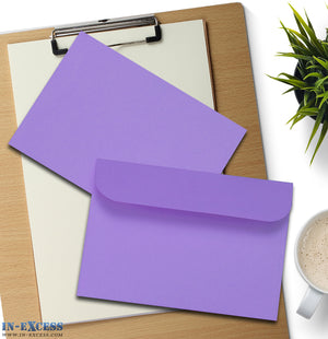 Purple Peel & Seal Envelopes C6 Size Pack of 25
