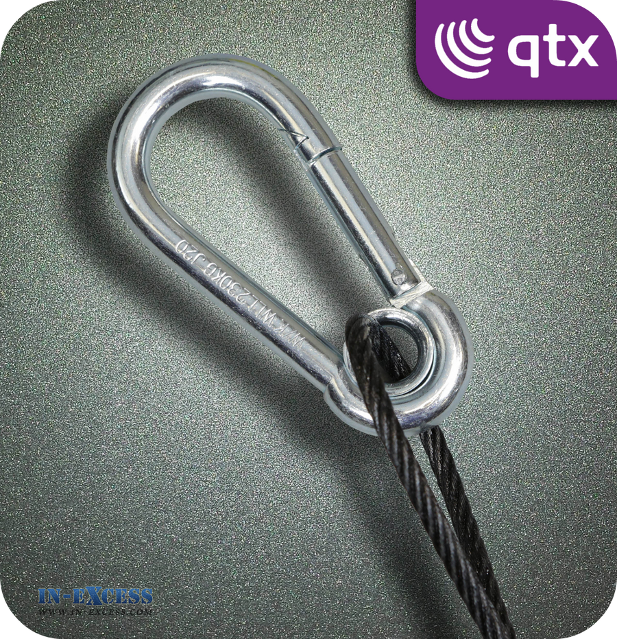 QTX Black Steel Safety Wire 230kg - 350mm