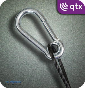 QTX Black Steel Safety Wire 230kg - 600mm