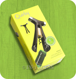 Quirky 4-in-1 Verseur Wine Opener With Bottle Cap, Corkscrew & Pour Spout