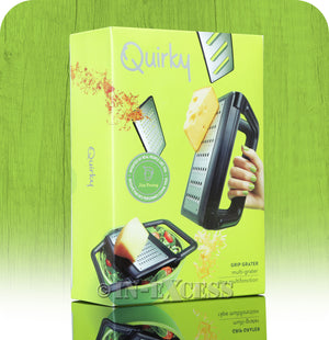 Quirky Grip Grater With Slicer, Grater and Shredder Attachments