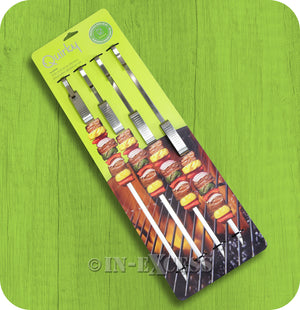 Quirky Sliders Stainless Steel Slide and Serve BBQ Skewers