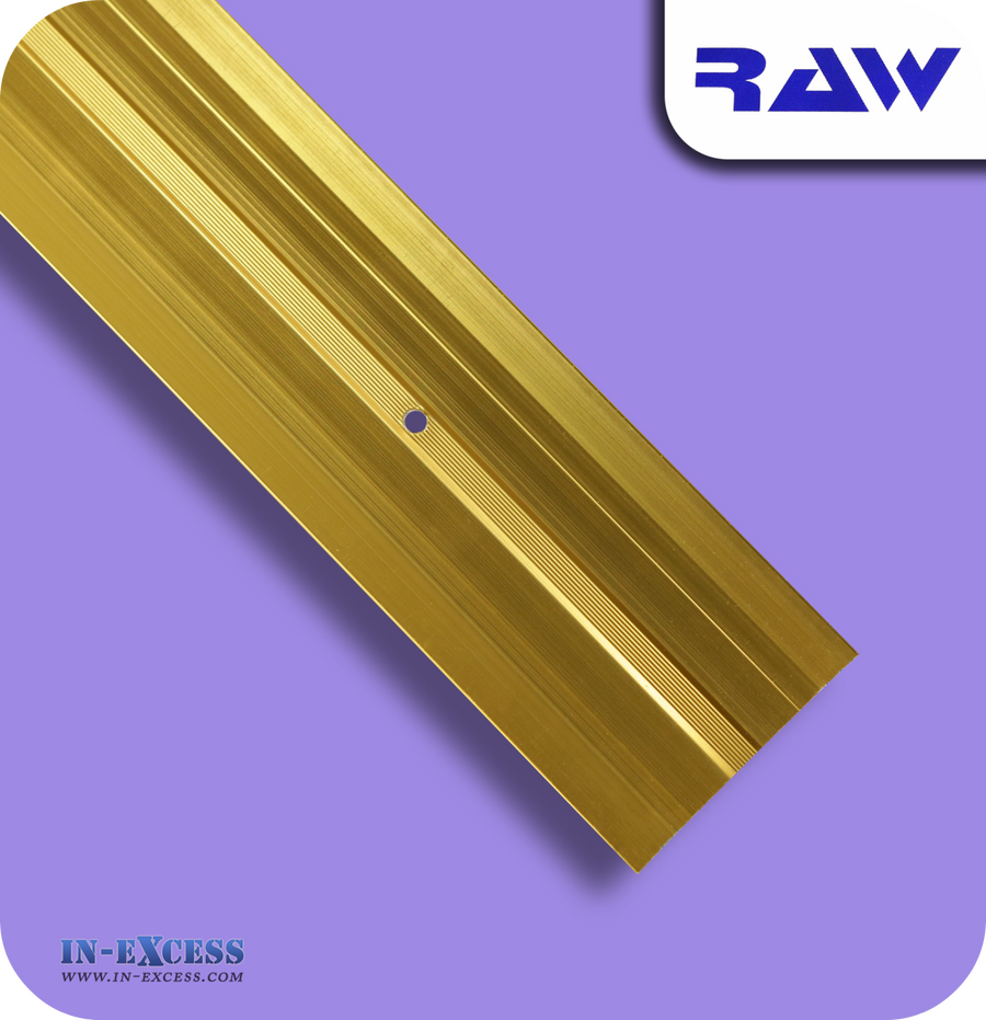 RAW Aluminium Carpet Cover Strip Extra Wide - Gold (M220)