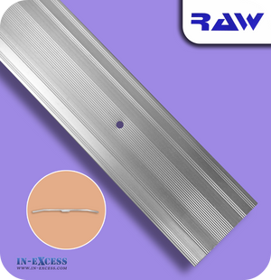RAW Aluminium Carpet Cover Strip Extra Wide - Silver