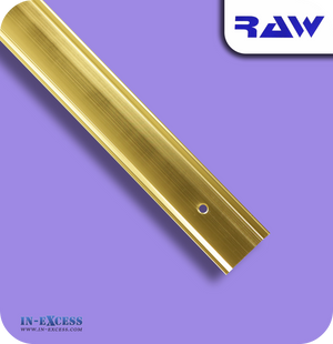 RAW Aluminium Carpet Cover Strip - Gold