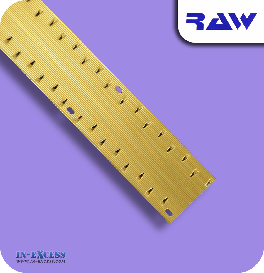 RAW Aluminium Carpet Strip Dual Grip Standard - Gold (M203)